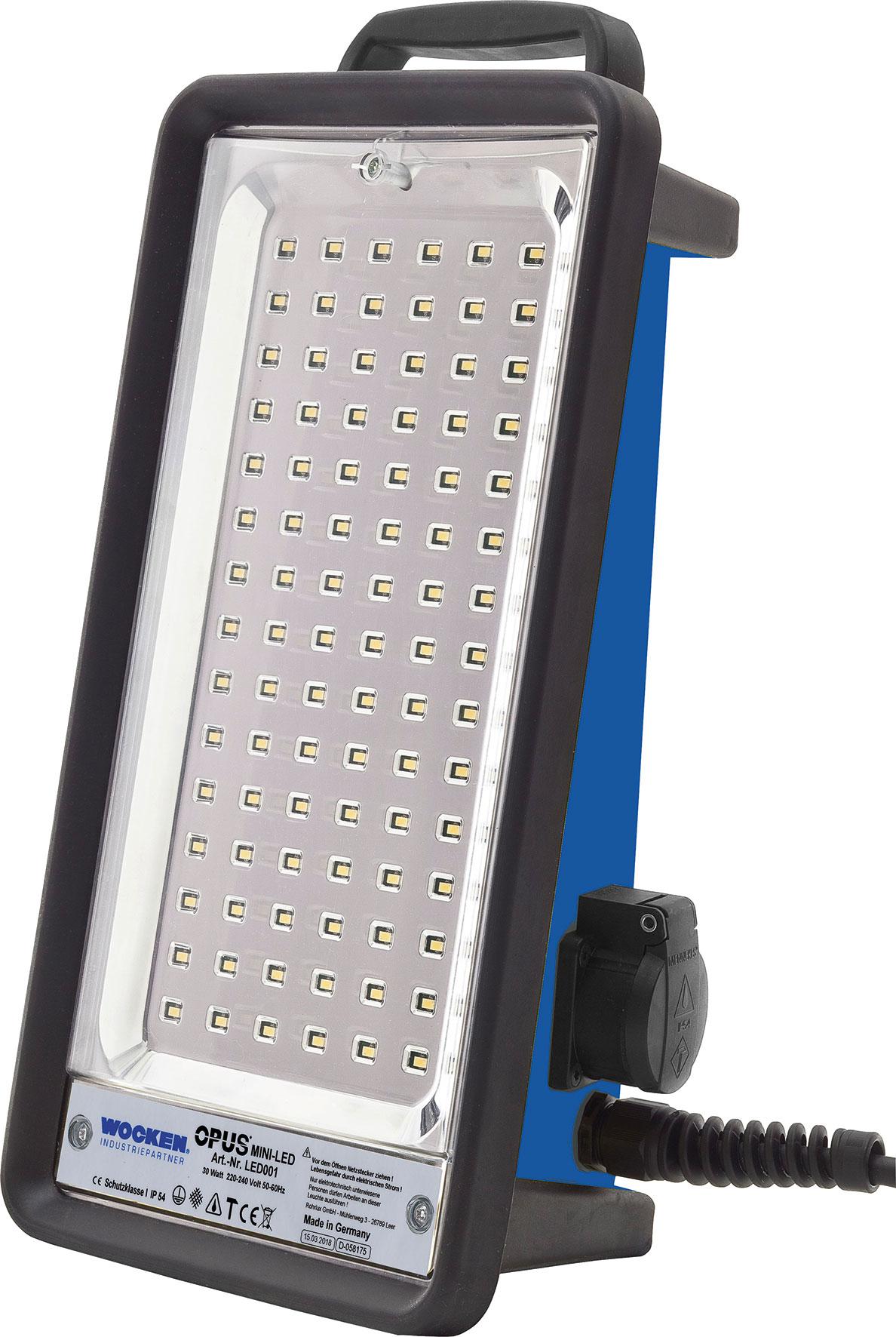 Mini-LED-Strahler, Abmaße (HxTxB) 423 x 139 x 215 mm, Leuchtstärke ...
