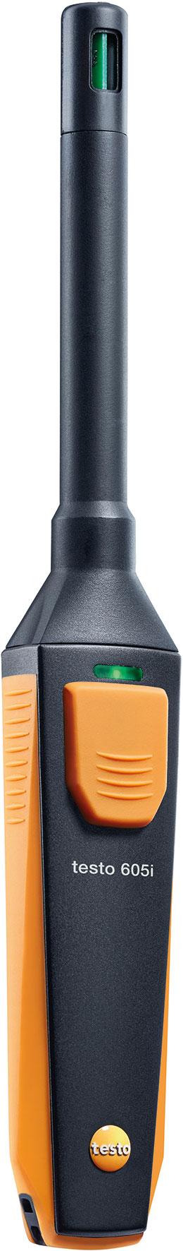 thermo hygrometer mit smartphone bedienung testo 605i messbereich 20 bis 60 c messbereich. Black Bedroom Furniture Sets. Home Design Ideas