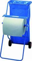 PROFESSIONAL* Mobiler Ständer für Wischtuchrollen - Großrolle / Blau